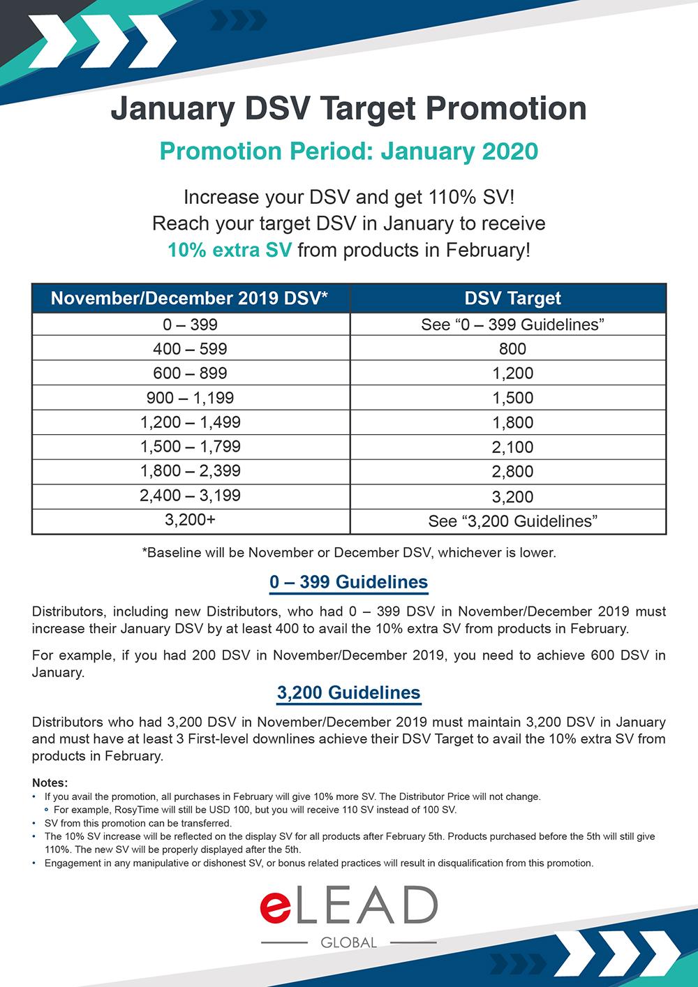January DSV Target Promotion