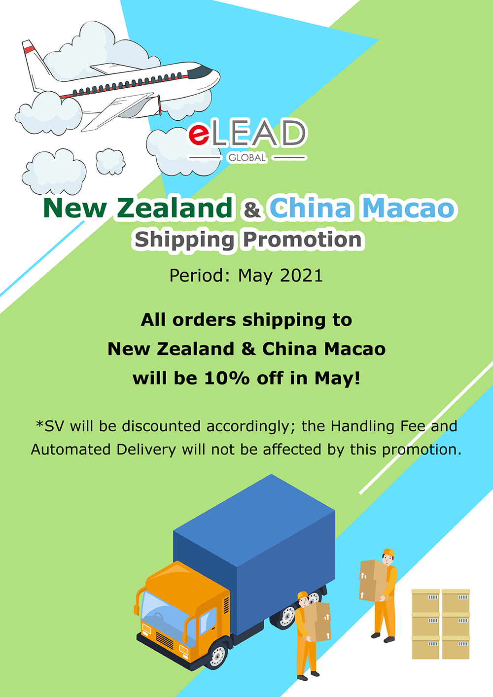 New Zealand & China Macao Shipping Promotion