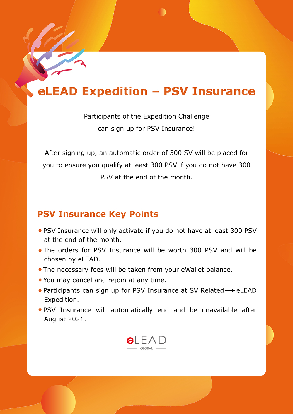 eLEAD Expedition – PSV Insurance
